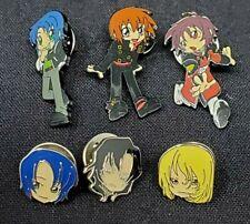 Gundam Seed Destiny Tac Pin Set (6) Athrun, Kira, Shann, Gilbert & Rey Loose Euc