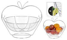Argent Chromé panier de fruits Suspendus Fruit Bowl Titulaire dans cadre Cuisine Décoration