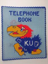 Old Vintage 1970s Kansas Jayhawks Kansas University Telephone Book Holder Cover