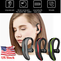 Bluetooth Wireless Headset Noise Cancelling Earphone with Mic For iPhone Samsung