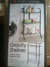 The Art Of Storage 3 Tier Deluxe Gravity Shelf Shelves Shelving - Black