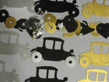 CLASSIC VINTAGE CAR x9 die cuts with extra wheels