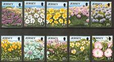 JERSEY #717-726 MINT NH FLOWER SET OF 10 CV$8.25
