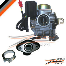 20mm Eagle 50cc 50 Carburetor & Intake Manifold Boot Scooter Moped Carb NEW