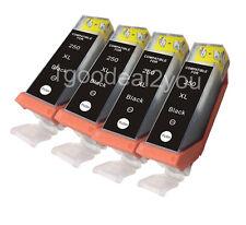 4PK Ink Cartridges PGI-250XL BLACK for Canon iX6850 MG5450 MG6420 MX925 MX725