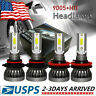 2-Sides LED Headlight Bulbs Conversion Kit 9005 H11 High Low Beam Bright White