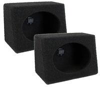 "Q-POWER Q-Bomb QTW6X9 6x9"" Car Wedge Speaker Boxes with Bedliner Spray, Pair"