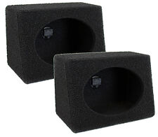 "2 Q-POWER Q-Bomb QTW6X9 6x9"" Car Wedge Subwoofer Box Enclosures w/Bedliner Spray"