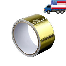 "2"" 15FT Gold Intake Heat Reflective Tape Wrap Self-adhesive High Temperature"