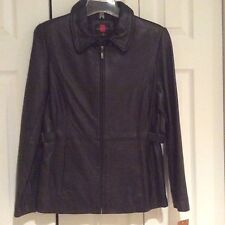 NWT! GALLERY GENUINE LEATHER JACKET WITH BELT! WOMENS P/S $299.00+ MUST SEE!!!