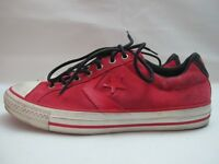 Mens Converse All Star Converse SP EV OX Red Leather Trainers UK 7 EUR 40