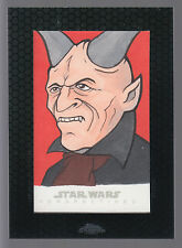 Star Wars 2014 Topps Chrome Perspectives 1/1 Sketch Kardue'sai'Malloc Chris West