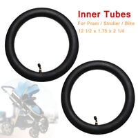 2X Inner Tubes Bent Valve For Hota Pram Stroller Kid Bike 12 1/2 x 1.75 x 2 1/4