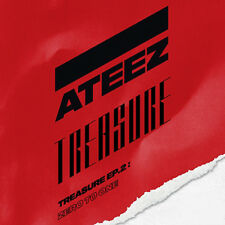 ATEEZ TREASURE EP.2:ZERO TO ONE 2nd Mini Album CD+P.Book+Sticker+Poster+15p Card