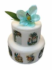 Alice in Wonderland edible Cake Borders x 3 | Deco icing or wafer Cake topper