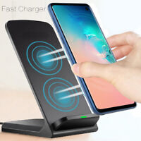 Qi Wireless Fast Charger Charging Pad Stand Dock For Samsung Galaxy S9 S10 Plus