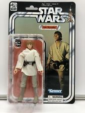 "KENNER STAR WARS 40TH BLACK SERIES LUKE SKYWALKER FIGURE 6"" MISP A NEW HOPE"