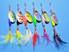 6 x FISHING SPINNERS LURES FOR TROUT REDFIN BASS YELLOWBELLY PERCH FRESH WATER