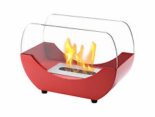 Ignis Ventless Tabletop Ethanol Fireplace - Liberty Red - Eco Friendly Fireplace