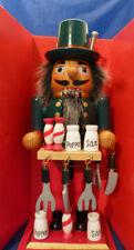 """KURT ADLER 10"""" WOODEN COOK CHEF SEASONINGS Christmas NUTCRACKER~NEW IN BOX"""