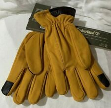 Timberland Soft Goat Suede Leather Touch Screen Gloves Brown Mens Large