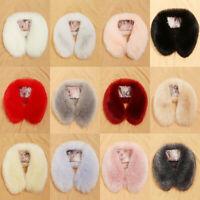 Women Faux Fur Collar Scarf Shawl Scarves Stole Down Jacket Collars Plush Shaggy