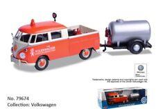 1:24 Escala VW T1 Type 2 Carretera Reparación Van Remolque Modelo Fundido 1962