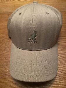Kangol Wool Flexfit Baseball Adult Hat Cap Tan Khaki Beige Size  L/XL Y2K Vntg