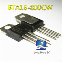 10PCS BTA16-800CW STMICROELECTRONICS TRIAC TO-220 BTA16-800CW new