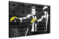 PULP FICTION YELLOW BANANA BANKSY WALL ART CANVAS PICTURES DECORATION PRINTS