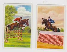 EQUESTRIAN EVENT X 2 ONLY SGL.VINTAGE PLAYING/SWAPCARDS.....UP & OVER