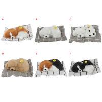 Stuffed Toys Simulation Animal Plush Sleeping Dogs Toy With Sound Kids Toys