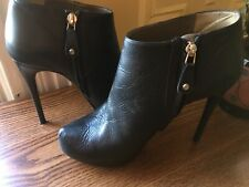 JUST CAVALLI BY ROBERTO CAVALLI WOMENS BOOTIES, Pre-owned, SZ IT 39, USA 9