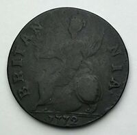 Dated : 1772 - Copper Coin - Half Penny - King George III - Great Britain