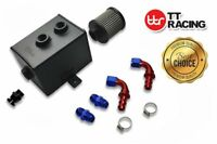 SQUARE STYLE2L ALUMINIUM OIL CATCH CAN TANK KIT AN10 BAFFLED W/FITTINGS