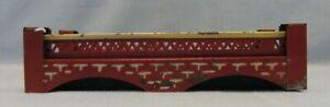 Kibri HO Scale Single Track Tin Lattice Double Arch Bridge - Red