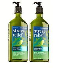 2 Bath & Body Works Aromatherapy STRESS RELIEF - EUCALYPTUS BASIL Body Lotion