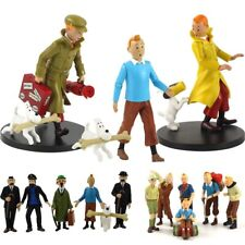The Adventures of Tintin Cartoon Tin Tin Snowy Action Figure Doll Kids Toys Set