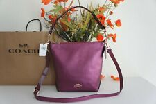 NWT Coach F87691 Mini Abby Duffle Metallic Berry Leather Shoulder Crossbody Bag