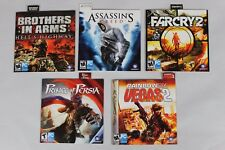 Lot of 5 Ubisoft PC Games Assassin's Creed Farcry 2 Rainbow Six Vegas BIA POP
