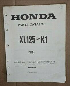 1974 HONDA  XL125 ~ XL125~ K1 / OFFICIAL  MOTORCYCLE PARTS MANUAL  / P8128