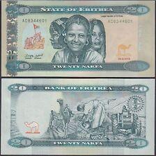 Eritrea 20 Nakfa, 2012, P-12, UNC