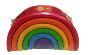 Grimms Small Rainbow Stacker 10760 Waldorf Montessori Wood 6 pieces Sealed & New