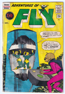 ADVENTURES OF THE FLY 23 (1962 Archie) Alien Cover; RARE 15-Cent VARIANT
