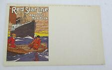 Vintage Red Star Line Postcard C-1, Poster Offer circa 1915