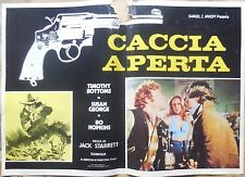 fotobuste lobby card CACCIA APERTA JACK STARRET BOTTOMS HOPKINS GEORGE CINEMA