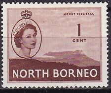 1954 NORTH BORNEO 1c MOUNT KINABALU SG 372 M/MINT