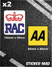 RAC Sticker + AA Sticker Garage Car Motorhome van breakdown services recovery