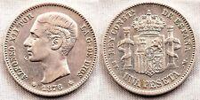 España-Alfonso XII. 1 Peseta. 1876*18-76. Madrid. EBC-/XF- Plata 5 g. Rara