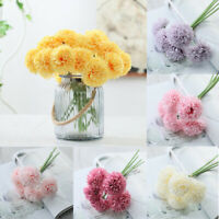 Artificial Silk Fake Peony Flowers Wedding Bridal Bouquet Hydrangea Home Decor-
